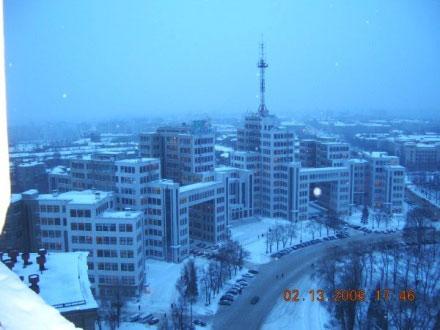 Kharkov is in winter.